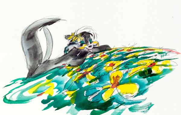 Chuck Jones Pepe Le Pew Original Signed Watercolor Painting Original art
