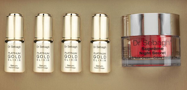 Dr Sebagh Platinum Gift Box contains with Gold and Platinum infused Anti-aging serum