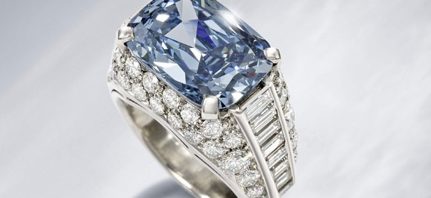 Exquisite Bulgari blue diamond ring circa 1965 is expected to fetch over $2.3 million at Bonhams auction