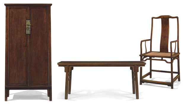 13 Pieces of Fine Huanghuali Furniture at Christie's New York