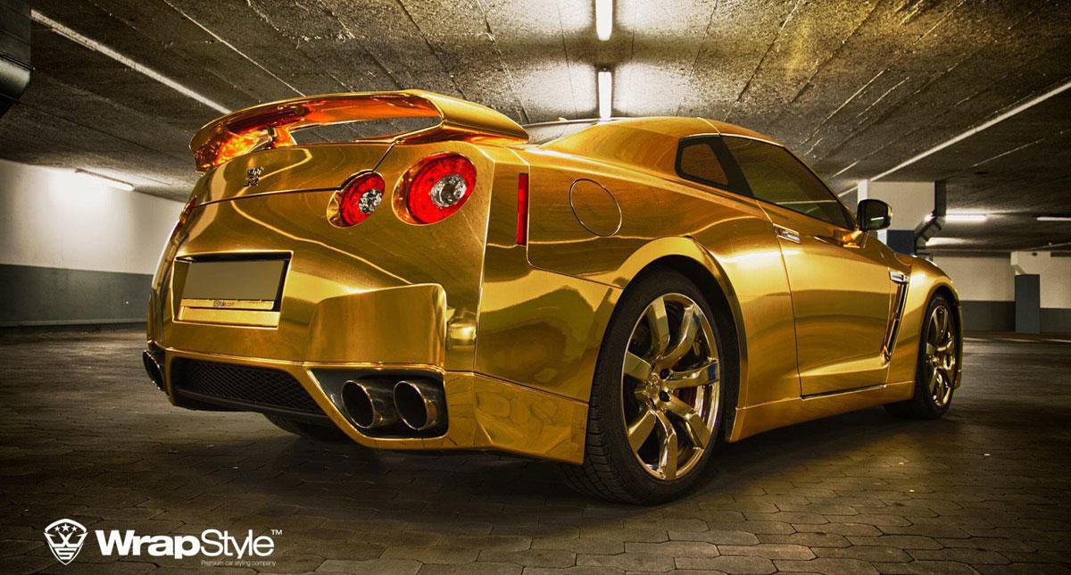Golden Nissan GT-R by WrapStyle - eXtravaganzi