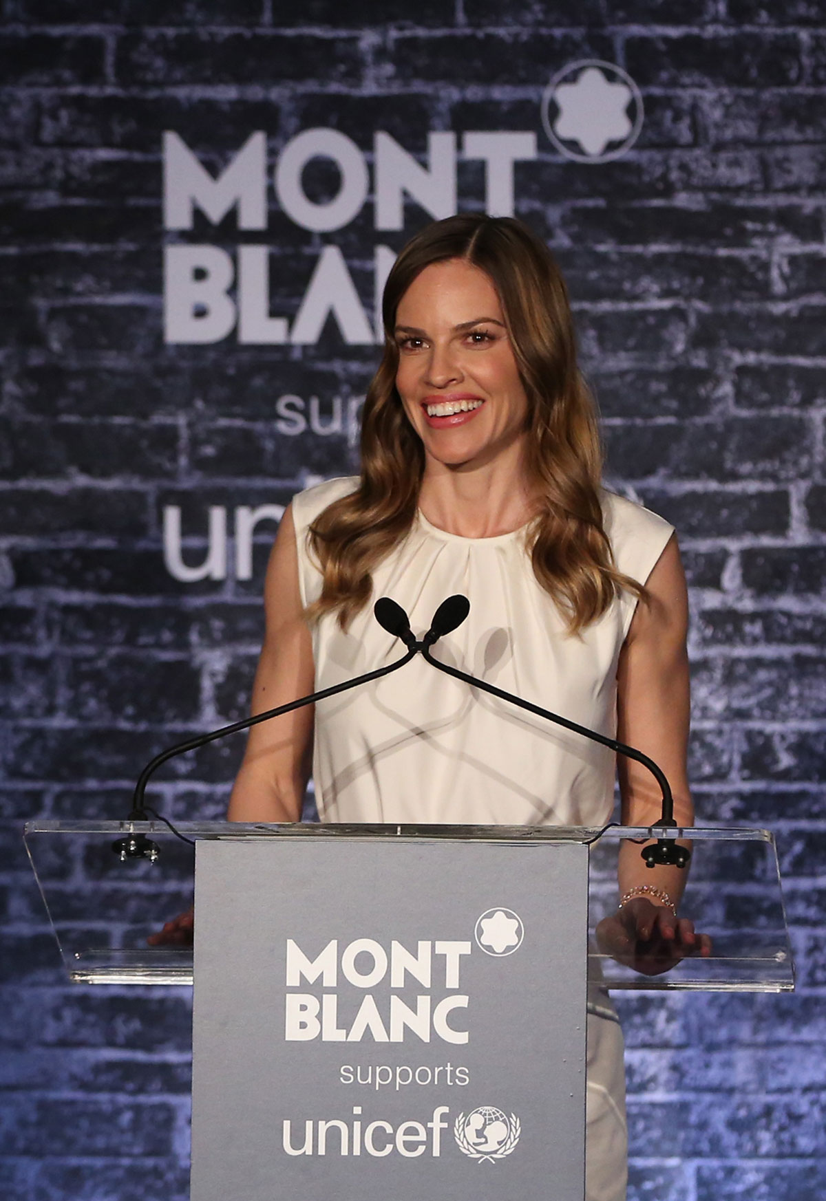 HILARY SWANK at Montblanc & UNICEF Signature For Good Collection