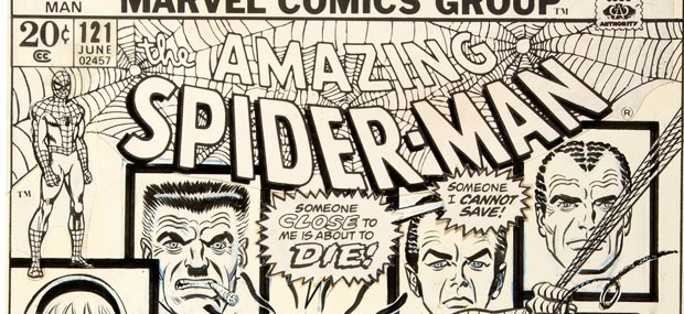 Amazing Spider-Man #121 cover 'The Night Gwen Stacy Died' Sold For $287,000