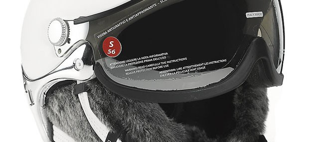 Lifestyle Lady Fur Trim Helmet by Kask for Skiing in Style