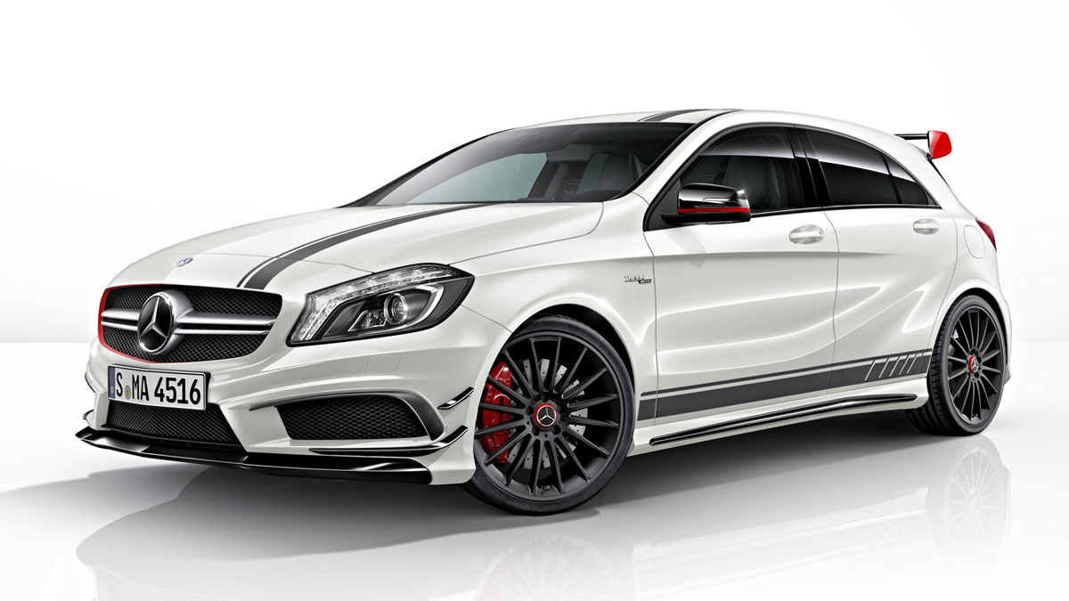 mercedes benz reveals a45 amg edition 1 extravaganzi. Black Bedroom Furniture Sets. Home Design Ideas