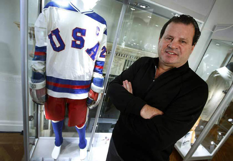 Mike Eruzione's 1980 'Miracle on Ice' game worn jersey and winning goal scoring stick bring $920,000+, leading $1.4+ million Eruzione Collection, at Heritage Auctions