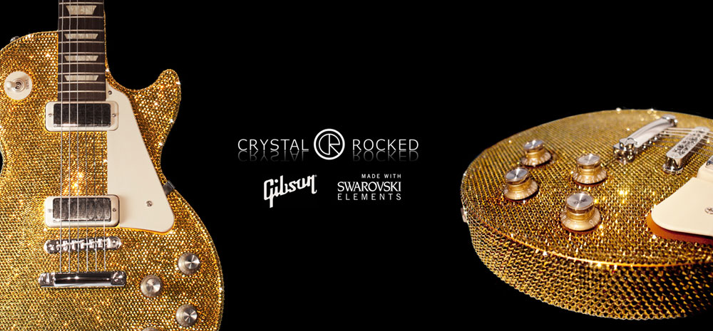 Swarovski-studded Guitars by Crystal Rocked