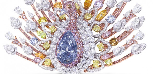 $100 Million Peacock Brooch by Graff Diamonds