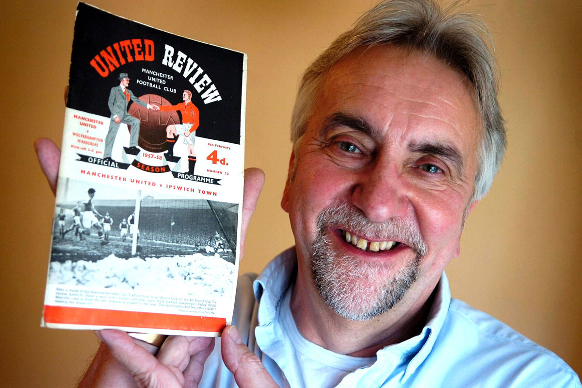 Keith Hames with the programme dating back to the 1957-58 season