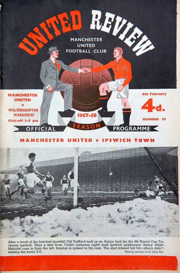 1958 'United Review' programmes for the game against Wolves
