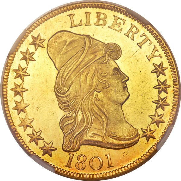 1801 Capped Bust Right Eagle