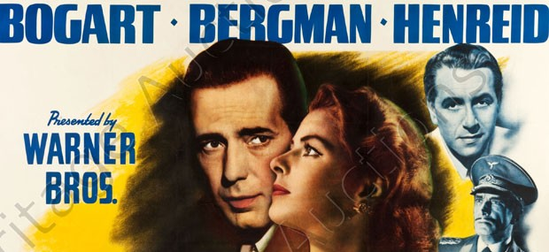 Rare Casablanca Six Sheet Poster up for Auction