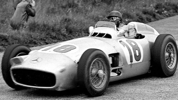Juan Manuel Fangio 1954 Mercedes-Benz W196 Silver Arrow on Auction at Bonhams