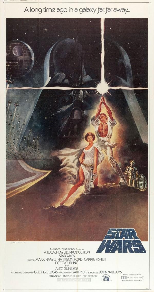 1977 Star Wars Three Sheet Poster