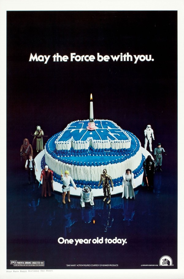 1978 Star Wars Birthday Cake Poster