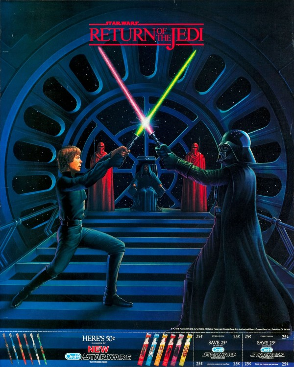 1983 Return of the Jedi Oral B Advertising Poster
