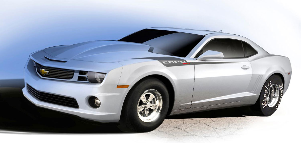 Chevrolet released the COPO Camaro limited edition of the drag-strip-ready production car for 2013