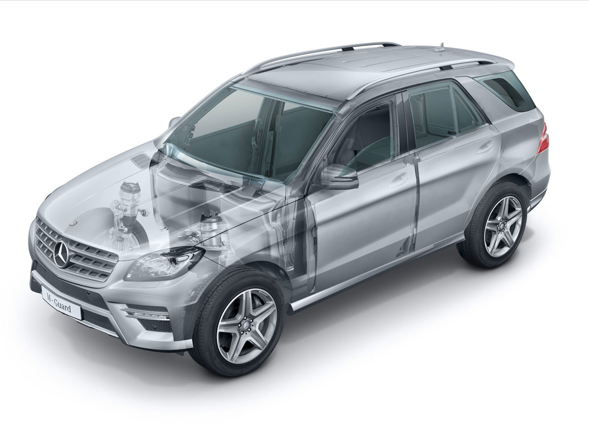 Armored mercedes m class extravaganzi for Mercedes benz armored