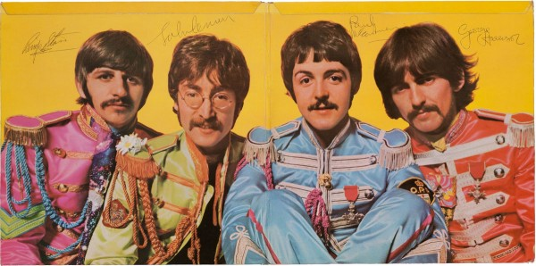 The Beatles' Sgt. Pepper's Lonely Hearts Club Band - sporting four crisp signatures by the Fab Four on the gatefold