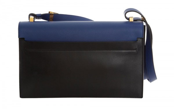 Blue New Partition Leather Shoulder Bag from the Lanvin Collection