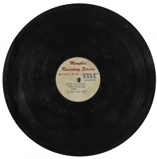 Elvis Presley's first original record of That's All Right (Mama) estimated to fetch $90,000