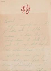 Glenn Ford-Received handwritten break-up letter from Judy Garland penned in 1963
