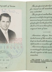 Glenn Ford's Twice-Signed Passport, 1949
