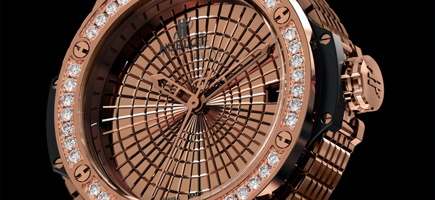 Hublot Big Bang Caviar Red Gold Diamonds with 36 diamonds