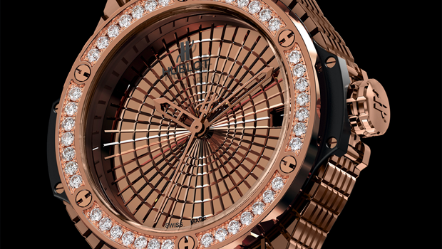 Hublot Big Bang Caviar Red Gold Diamonds and Steel Diamonds Watches at Baselworld