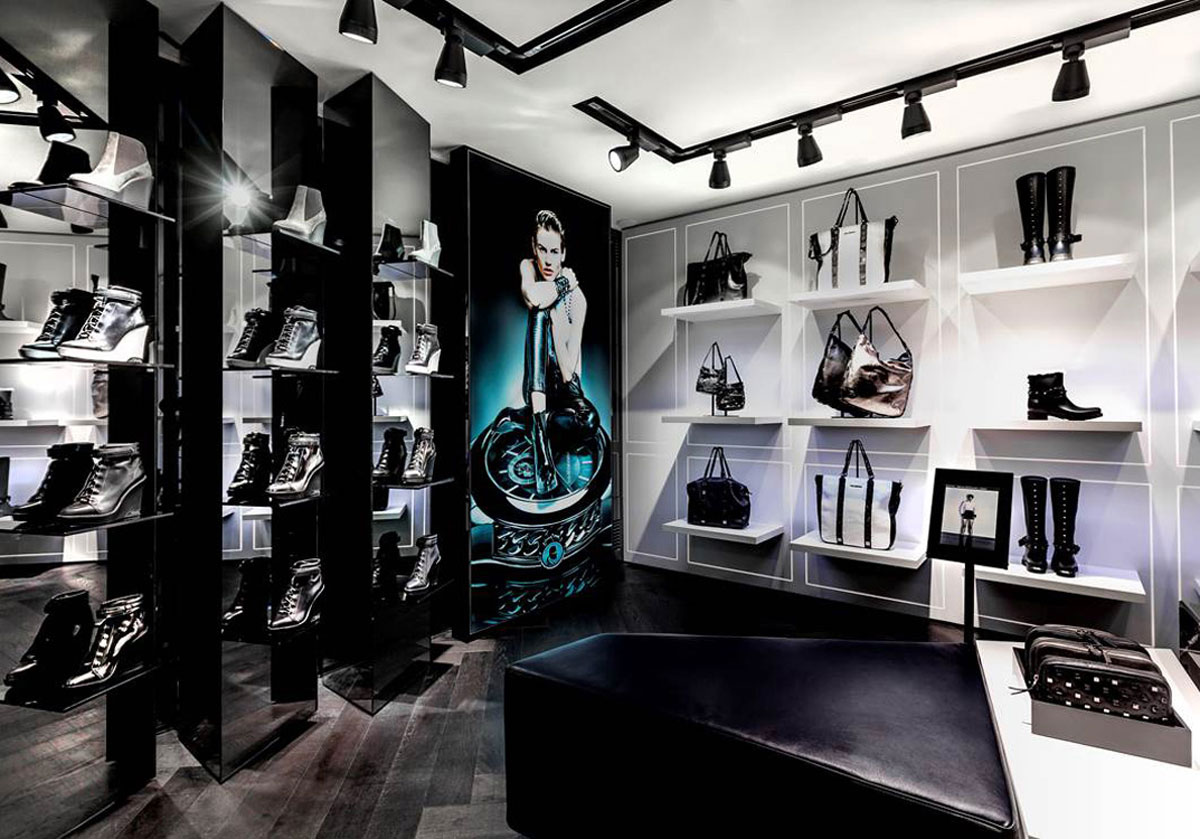 karl lagerfeld s first concept store opened in the heart of paris boulevard saint germain. Black Bedroom Furniture Sets. Home Design Ideas