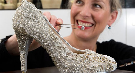 Kathryn Wilson's Diamond Shoe