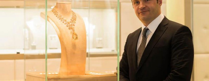 Pascal Mouawad  display the Mouawad L'Incomparable Diamond Necklace at the exhibition