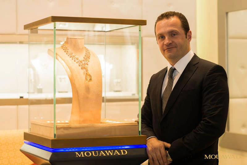 b71f443cd9bca Pascal Mouawad display the Mouawad L Incomparable Diamond Necklace at the  exhibition