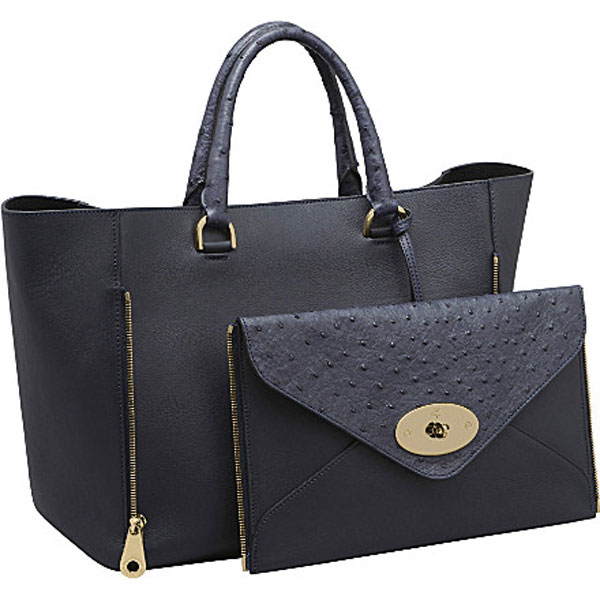 Mulberry's Willow Ostrich Leather Tote