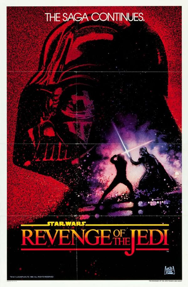 Revenge of the Jedi Undated Advance Style Poster