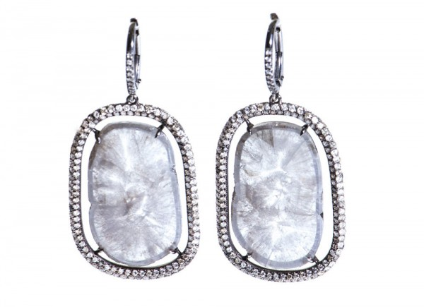 Susan Foster's Diamond Slice and Micro Pavé Earrings