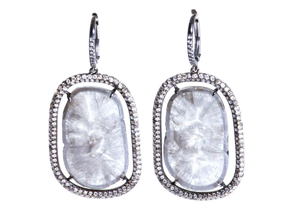 Susan Foster S Diamond Slice And Micro Pav 233 Earrings