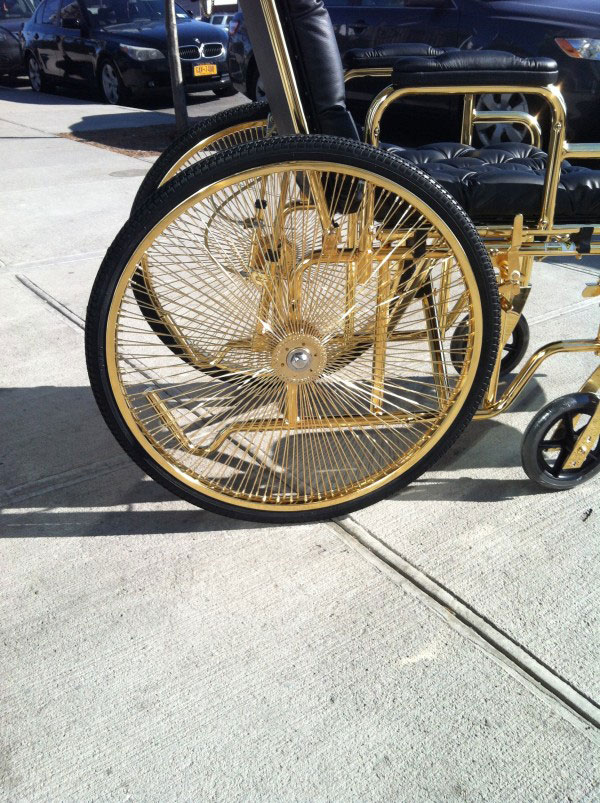 The Chariot - 24-carat Gold Plated Wheelchair