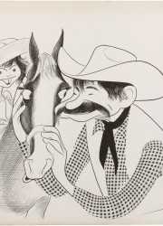 Original 1978 drawing of Matthau by celebrity caricaturist Al Hirschfeld