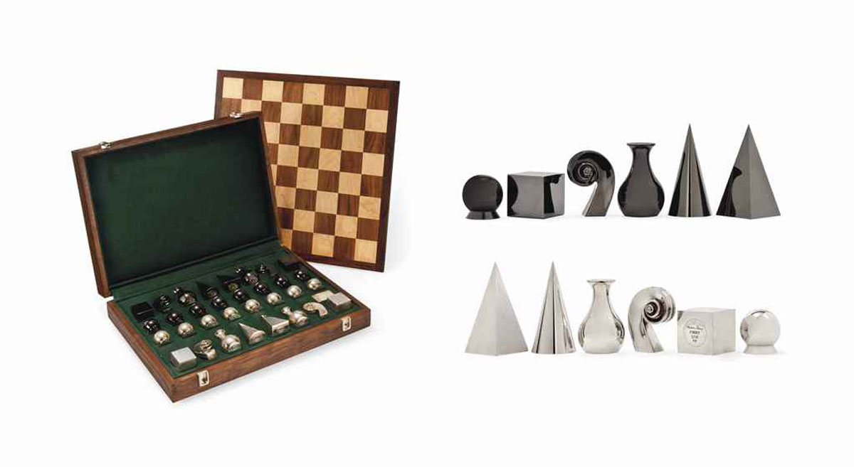 A SILVER MAN RAY CHESS SET 2008, LIMITED EDITION 3/10