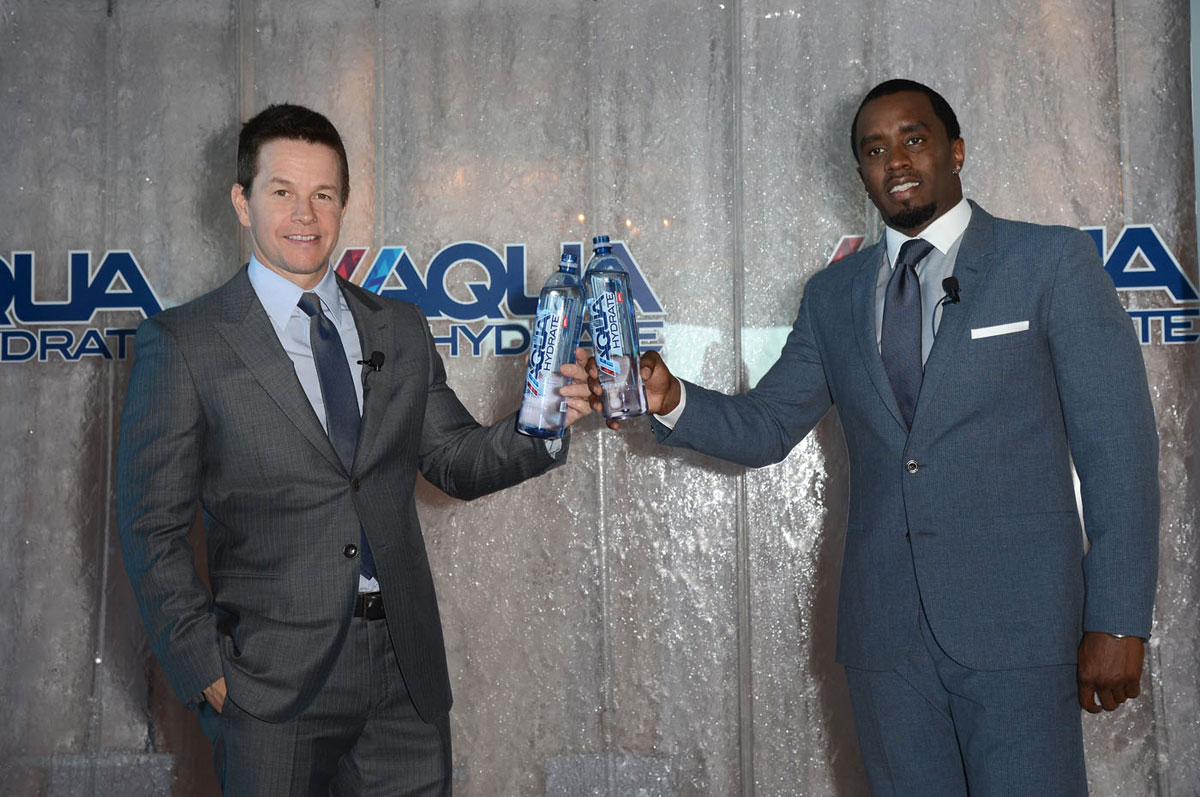 "Buddies Mark Wahlberg and Sean ""Diddy"" Combs Launched AQUAhydrate – High pH Alkaline Water"