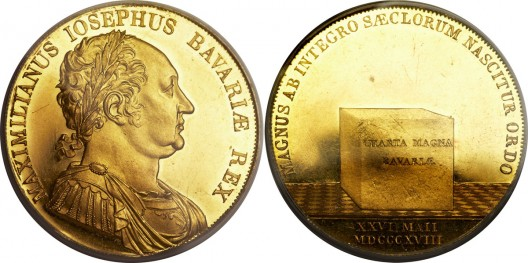 Maximilian I Josef Pattern Taler in gold 1818