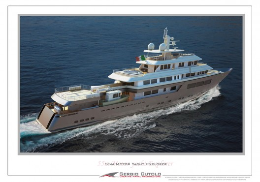 The Italian Hydro Tec presents to the market its very new concept design for a 57 m Explorer yacht
