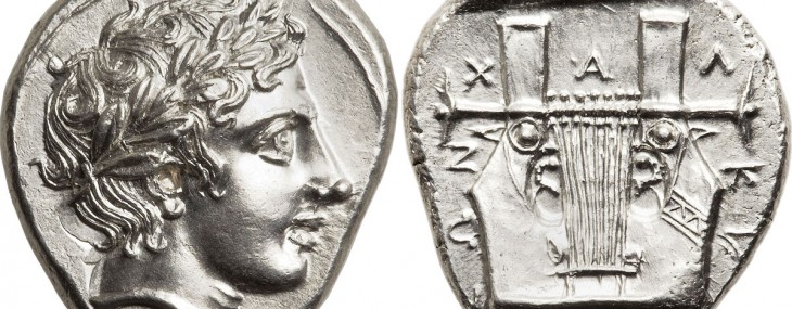 MACEDONIAN Chalcidian League. Ca. 390 BC. AR tetradrachm