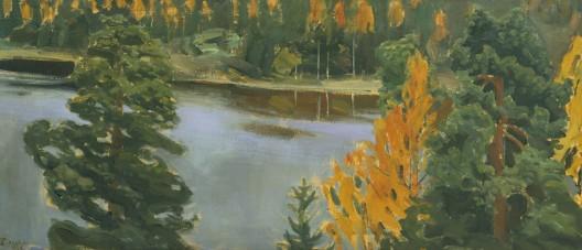 Lake View in Autumn by Akseli Gallen-Kallela