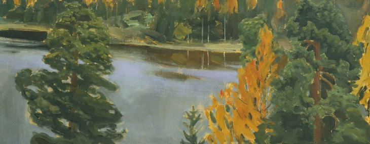 Lake View in Autumn by Akseli Gallen-Kallela