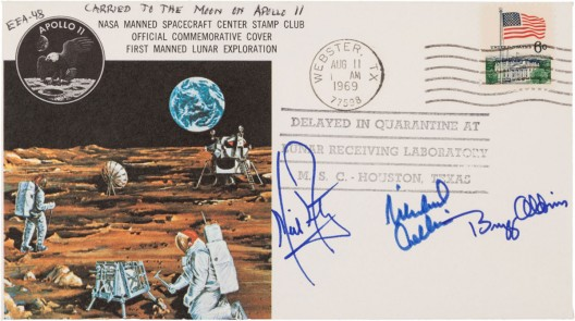 Apollo 11 Flown Crew-Signed Commemorative Cover, Number EEA-48, Originally from the Personal Collection of Mission Lunar Module Pilot Buzz Aldrin, Certified
