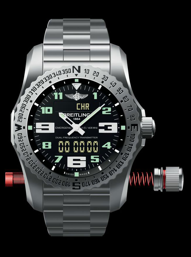 Watch Videos Music And Live Streams On The App: New Breitling Emergency II Watch
