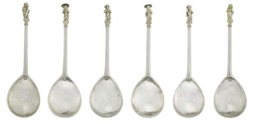 Edward IV parcel-gilt silver Apostle Spoons set