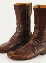 Elvis Presley owned and worn brown leather boots
